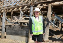 Mayor Byrne pictured at the site of the historic implement shed at Bella Vista Farm.