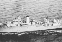 The HMAS Parramatta at sea in 1940