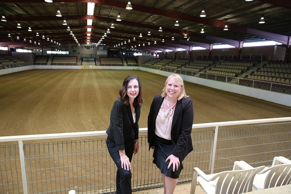 Mayor of The Hills Shire, Dr Michelle Byrne with Deputy Mayor Robyn Preston at Horseworld
