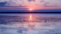 Sunrise on Thompson Lake