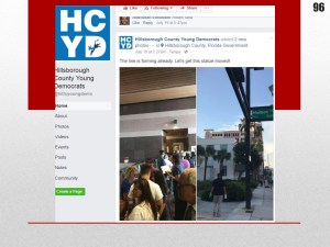 A screenshot of the HCYD Facebook page can be found on page 96 of the dossier.