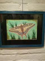 Butterfly in pointillism