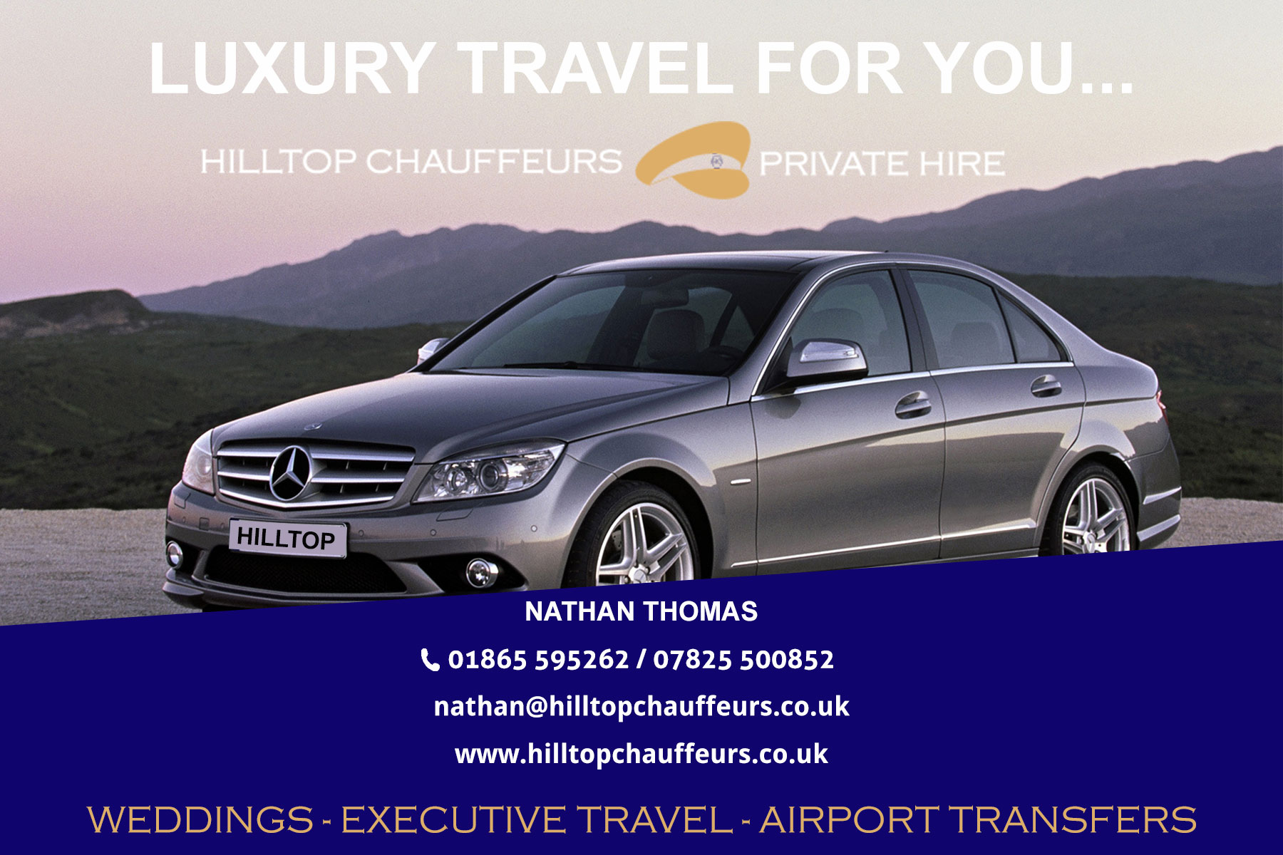 Business card mock up hilltop chauffeurs oxfordshire related magicingreecefo Gallery