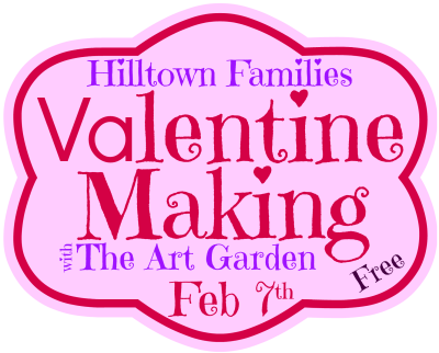 Handmade Valentine Workshop for Families on Friday, Feb. 7th from 4-7pm The Art Garden in Shelburne Falls
