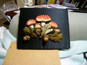 The laced mushrooms and acorns