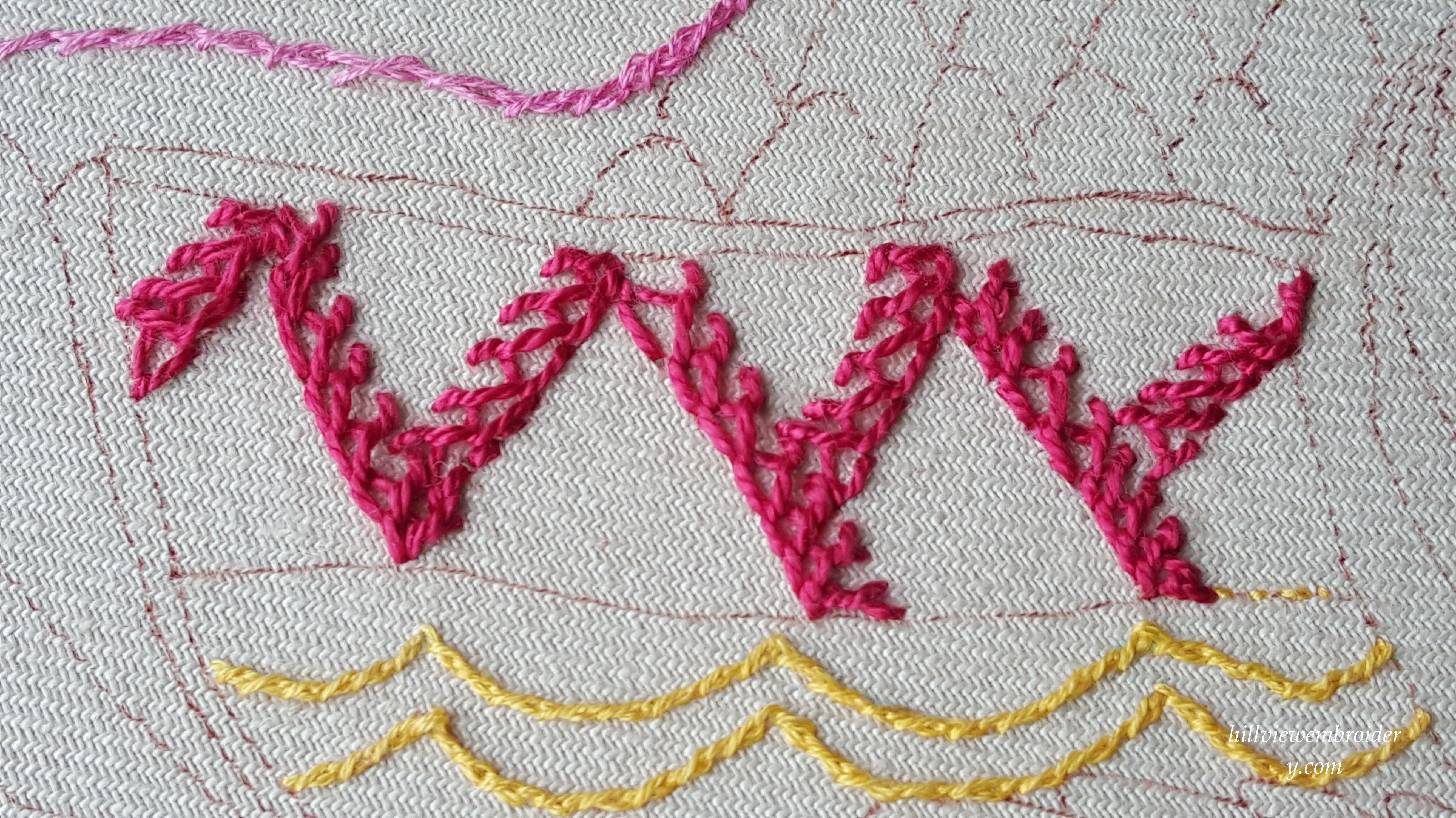 stitch 27 bonnet stitch 3