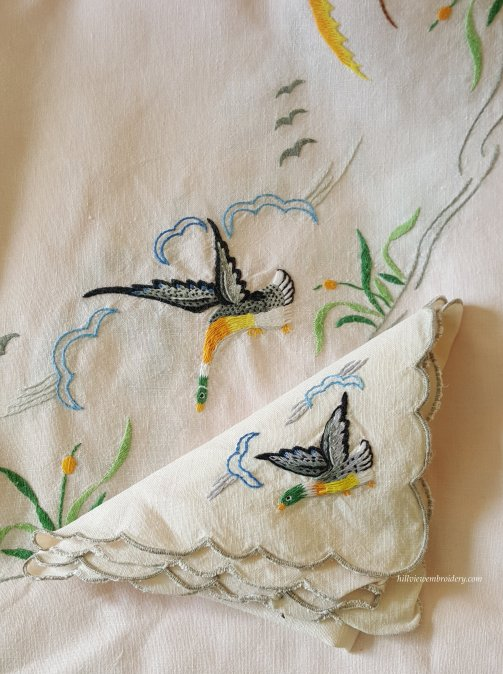 Embroidered pieces in my home – young and old