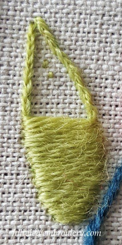 starting satin stitch