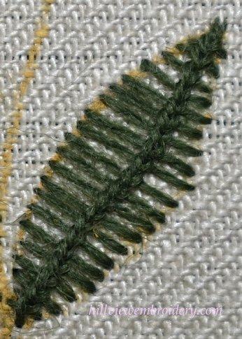 first-attempt-at-van-dyke-stitch