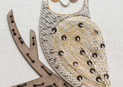 Creative Metallic work - Owl