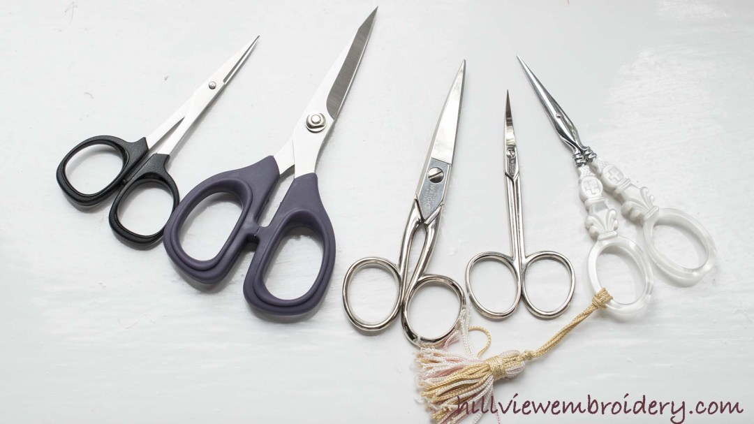 A look at three popular brands of embroidery scissors