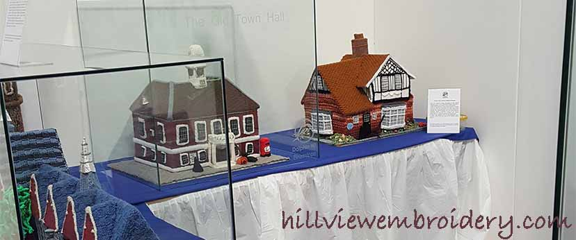 knitted village at knitting and stitching show