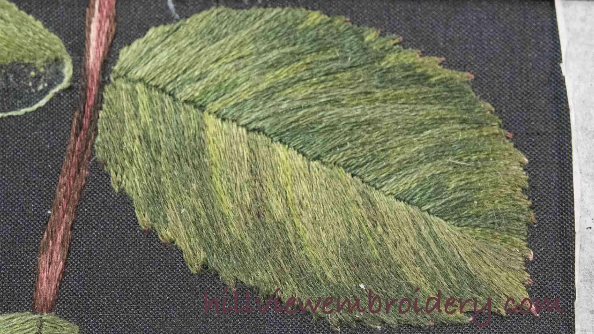 silk shaded leaf on RSN silk shading