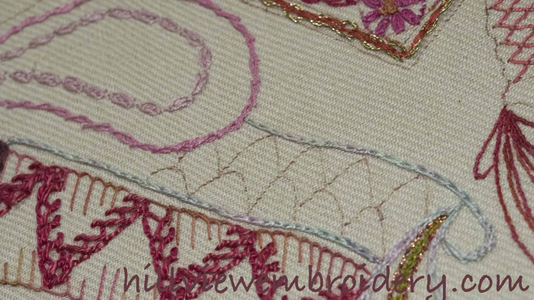 SAL Update – Repeating linked chain stitch