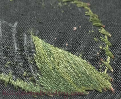 Starting a silk shaded leaf as part of the RSN Certificate