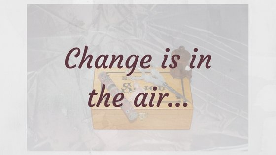 Change is in the air...