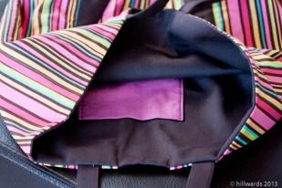 Inner pocket of initial-m bag