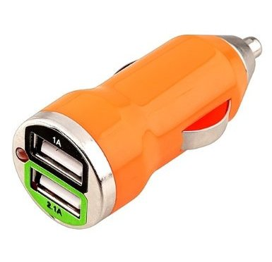 Adaptador USB cargador para móviles para tu coche por 3,10 €