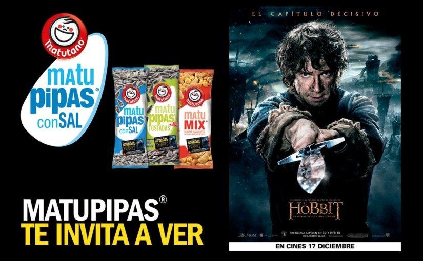 Chollazo Entradas al cine gratis por comprar pipas! El Hobbit: La Batalla de los Cinco Ejércitos
