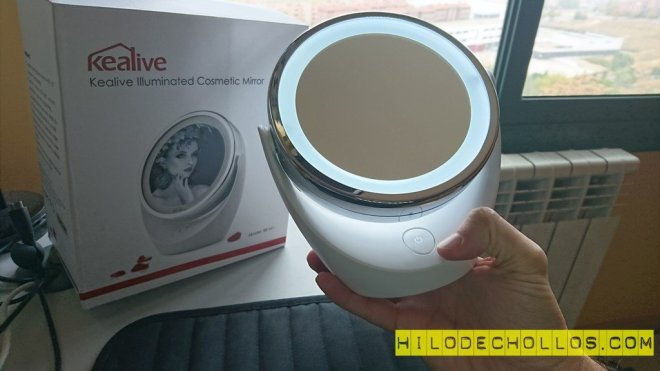 espejo maquillador luz LED