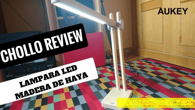 Lampara LED de madera de haya natural de Aukey