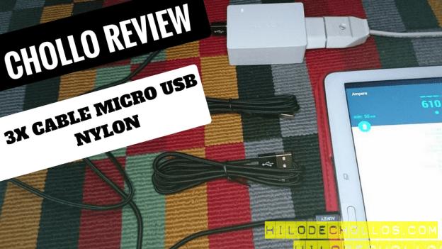 El mejor pack de 3 cables micro usb de nylon
