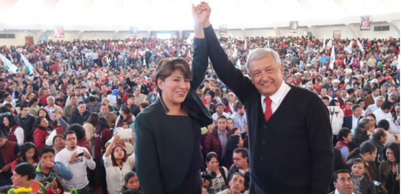 TEEM multa a Delfina Gómez y a Morena por actos anticipados de campaña