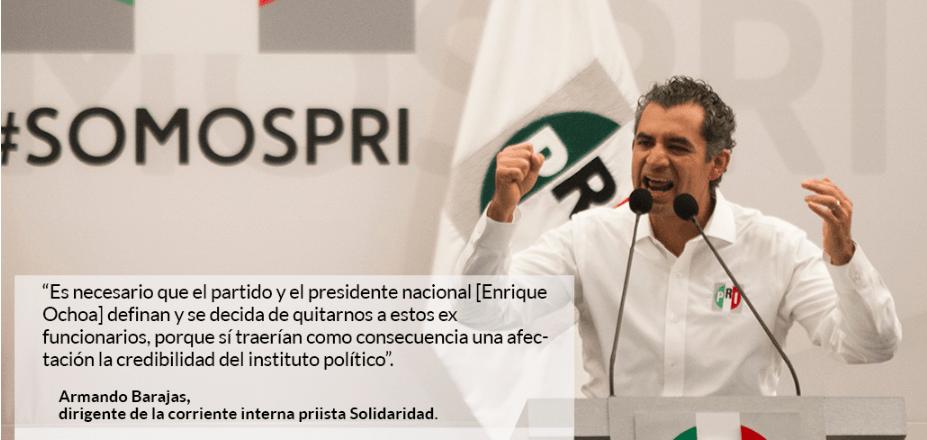 Priistas reclaman a Ochoa Reza: no expulsar a César Duarte costará votos