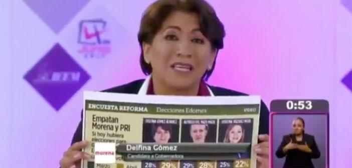 Delfina Gómez se coloca ya por encima de Alfredo del Mazo en Edomex