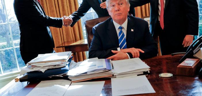 """""""Pensé que sería más fácil"""", dice Trump a 100 días de presidente"""
