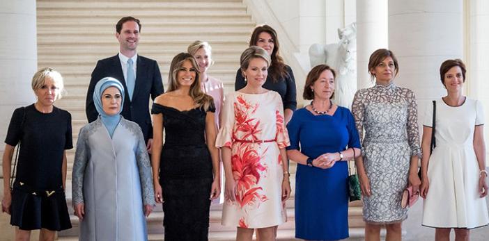 Marido del PM de Luxemburgo posa como 'primer caballero' entre primeras damas