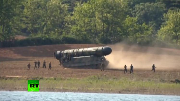 Corea del Norte muestra lanzamiento de nuevo misil (VIDEO)
