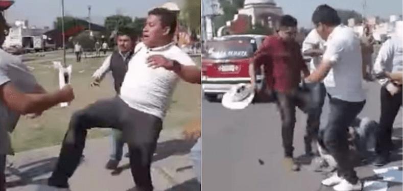Militantes del PRI agreden a brigadistas de Delfina en el Edomex (VIDEO)