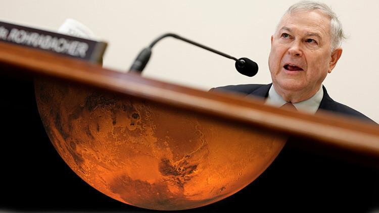 """Congresista a la NASA: """"¿Hubo una civilización en Marte miles de años atrás?"""""""