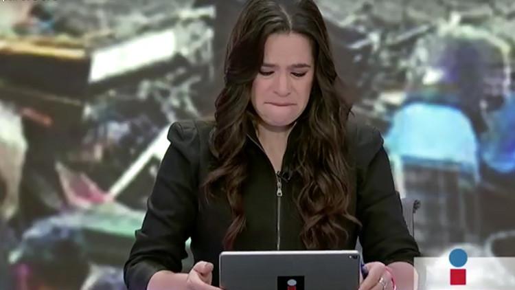 Yuriria se quiebra al reportar muerte de esposa de un colega en el sismo (VIDEO)