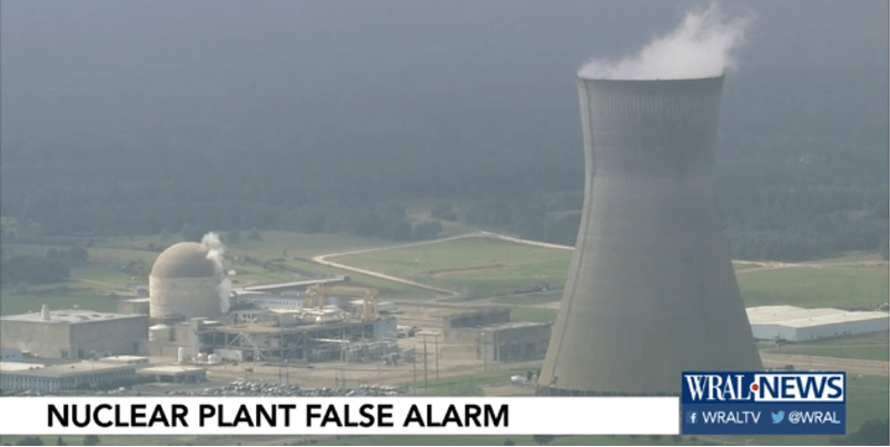 Ahora, alerta nuclear en Carolina del Norte (VIDEO)