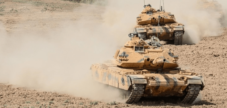 Tanques turcos incursionan en Siria (VIDEO)