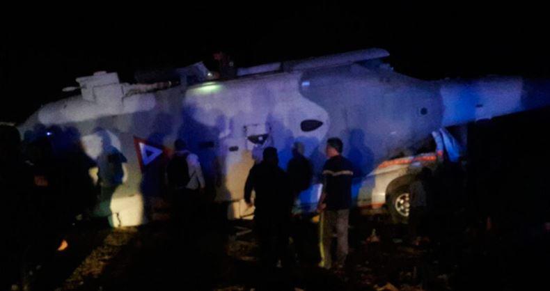 Cae helicóptero en que iba secretario de Gobernación y gobernador de Oaxaca