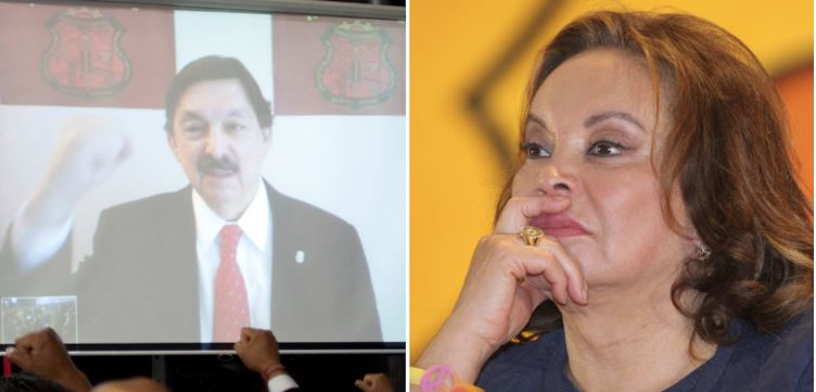 Usa el PRI a Gómez Urrutia y Elba Esther para atacar a López Obrador