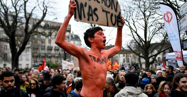 Francia estalla en protestas contra reforma laboral de Macron
