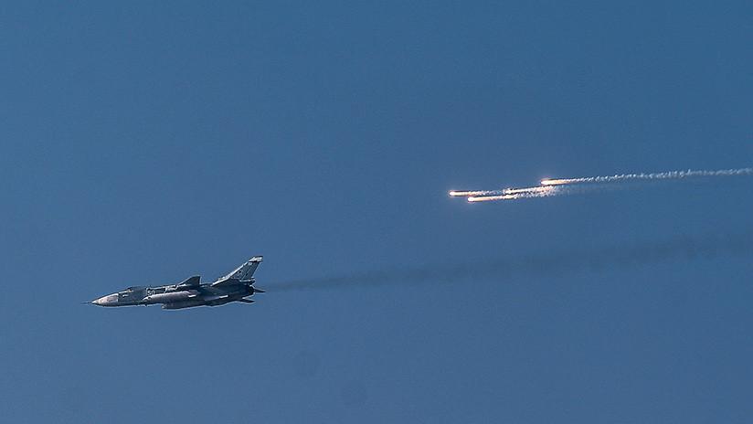 Rebeldes derriban un caza Su-24 del Ejército sirio