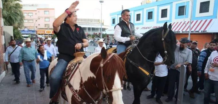 El Bronco respalda arranque de campaña de Cabada en Juárez