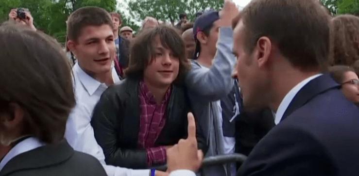Abatido, el adolescente al que Macron regañó