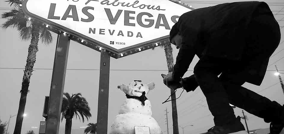 Nieva en Las Vegas por primera vez en 10 años