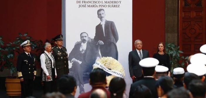 Gobierno retoma ideales de Madero, más bienestar popular: AMLO