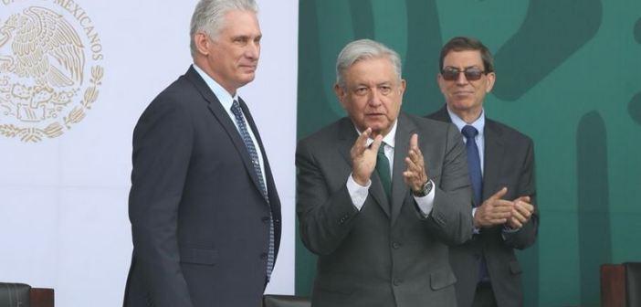 Fin al bloqueo de EU y reconciliación entre cubanos, pide AMLO