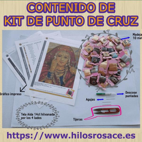 contenido de kit de punto de cruz