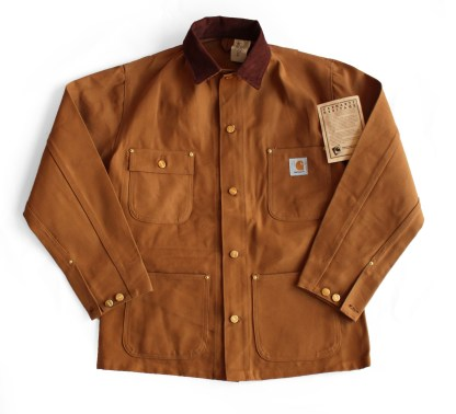 Carhartt Unlined Brown Duck Chore Coat #6C Vintage Deadstock