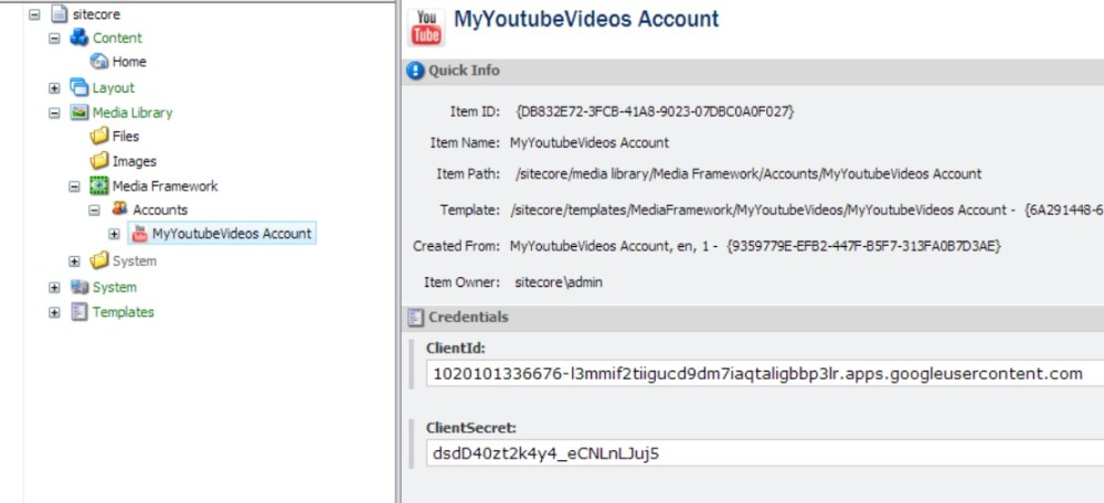 A Youtube Connector for Sitecore Media Framework Part 4 – Google Authentication (5/6)