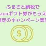 ふるさと納税で Amazonギフト券がもらえる! 期間限定のキャンペーン実施中!